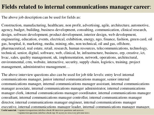 Top 10 internal communications manager interview questions and answers