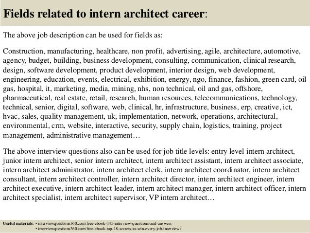 Top 10 intern architect interview questions and answers for Interior design director job description
