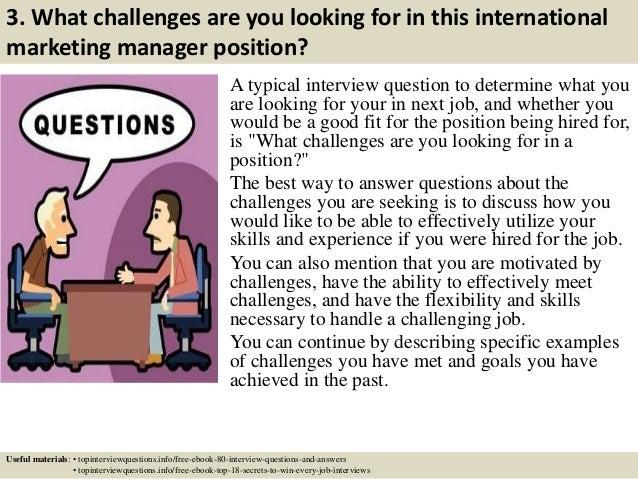 international marketing director job description