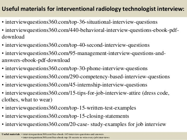 Top 10 interventional radiology technologist interview