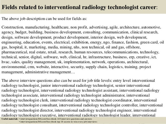 Top 10 interventional radiology technologist interview questions and …