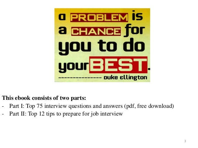 Top 75 interview questions and answers pdf ebook fandeluxe Image collections