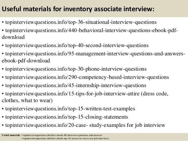 12 useful materials for inventory associate - Inventory Associate