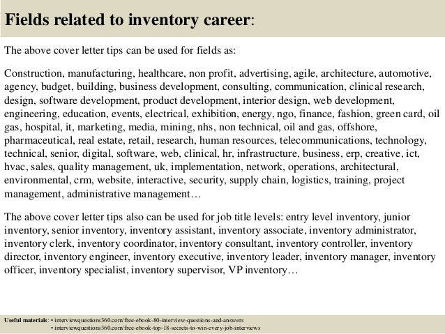... 16. Fields Related To Inventory Career: The Above Cover Letter ...