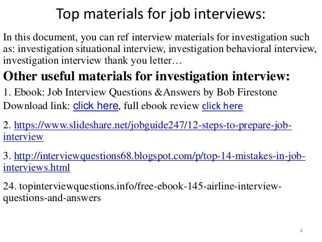 Top 36 investigation interview questions with answers pdf top materials fandeluxe Gallery