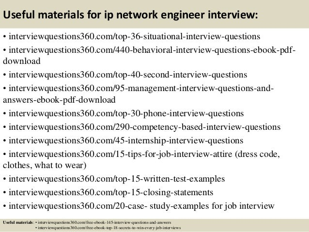 13 useful materials for ip network engineer interview - Network Engineer Interview Questions And Answers