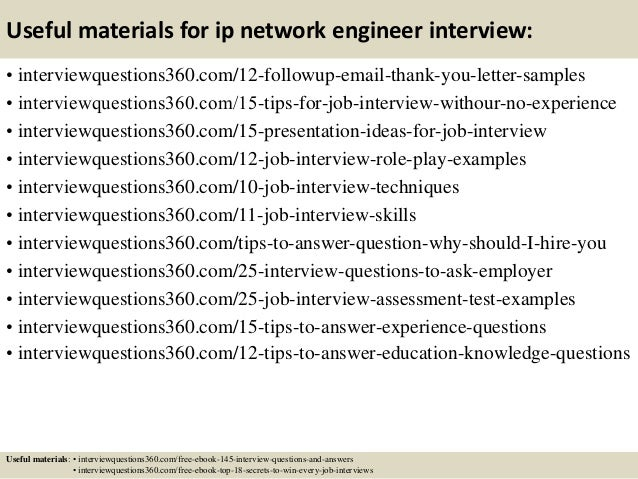 15 useful materials for ip network engineer interview - Network Engineer Interview Questions And Answers