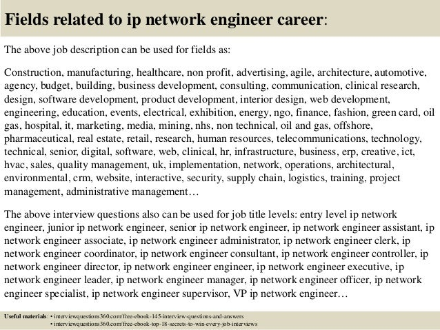 ... 18. Fields Related To Ip Network Engineer Career: The Above Job  Description ...