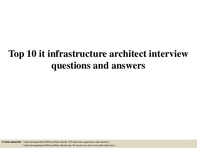 question and answer on infrastructure In this file, you can ref interview materials for infrastructure such as, infrastructure  situational interview, infrastructure behavioral interview,.