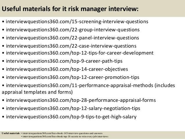 risk management interview questions