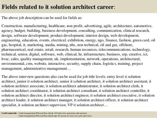 solution architect cover letter - Fieldstation.co