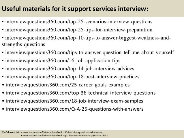 Top 10 it support services interview questions and answers