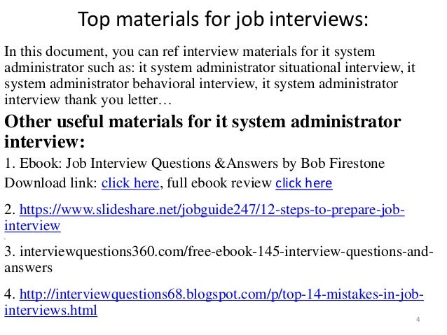 System Engineer Interview Questions