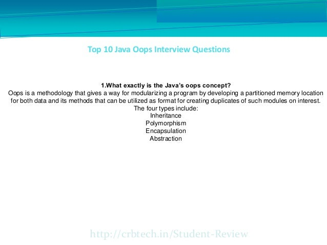 Top 10 java oops interview questions