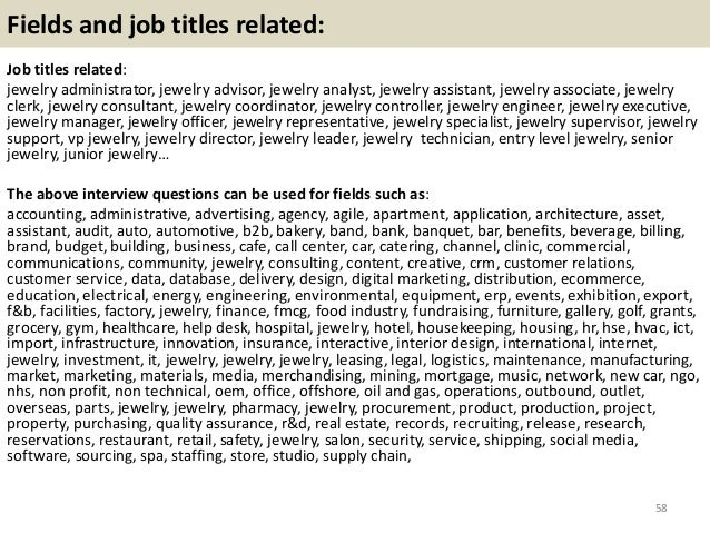 Top 36 jewelry interview questions with answers pdf – Jewelry Buyer Jobs