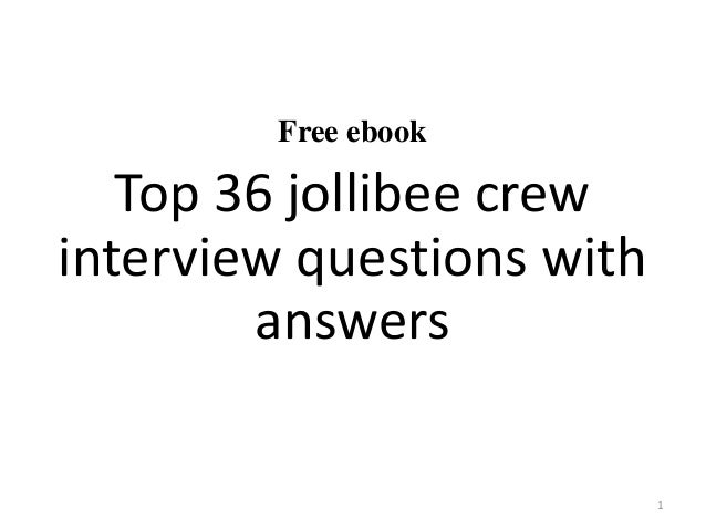 Resume Sample Resume For Jollibee Service Crew top 36 jollibee crew interview questions and answers pdf free ebook with 1