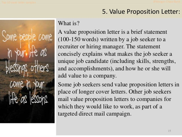 Sample Cover Letter Jp Morgan Primary Concept Most Important