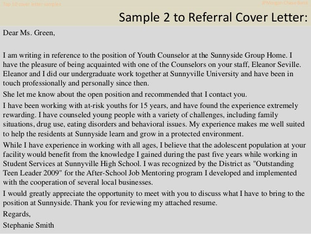 top 10 jp morgan chase bank cover letter samples