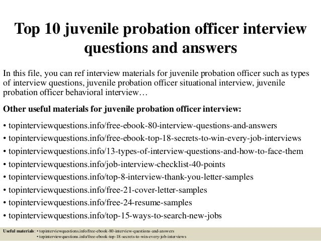 Attractive Top 10 Juvenile Probation Officer Interview Questions And Answers In This  File, ...