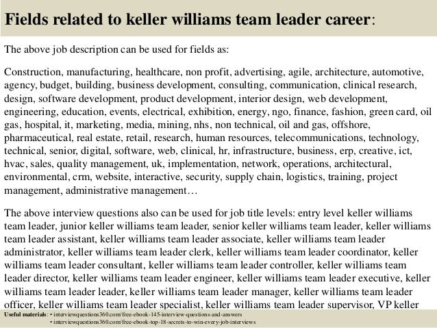 Top 10 Keller Williams Team Leader Interview Questions And Answers