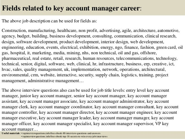 Top  Key Account Manager Interview Questions And Answers