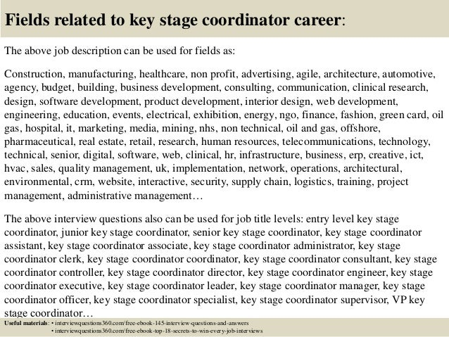 top  key stage coordinator interview questions  answers