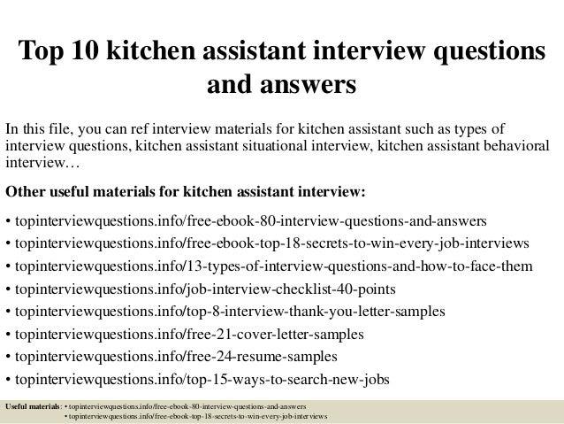 kitchen assistant
