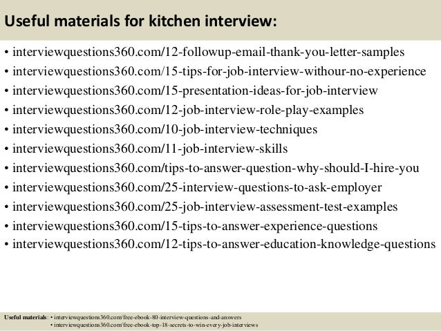 Kitchen Design Questions And Answers top 10 kitchen cover letter tips