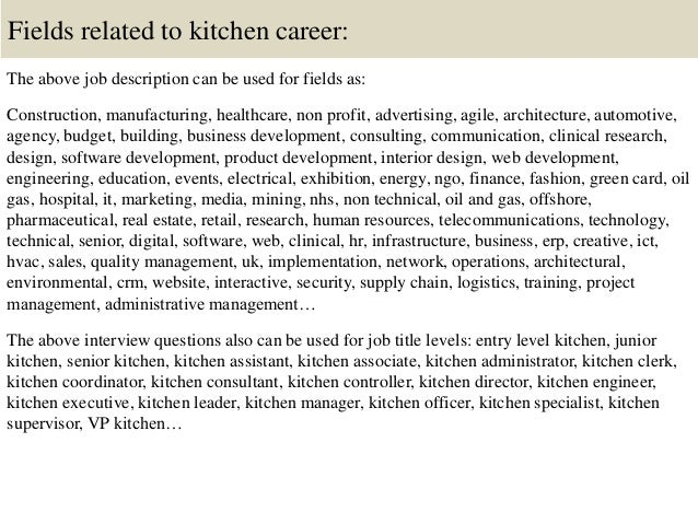 Restaurant Kitchen Manager Salary kitchen manager job description | resume cv cover letter