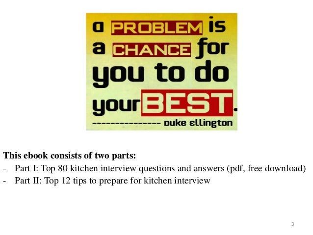80 kitchen interview questions with answers 80 kitchen interview questions and answers on mar 2017 3 3 this ebook consists of fandeluxe Choice Image