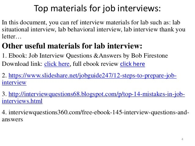 Top 10 lab interview questions with answers pdf