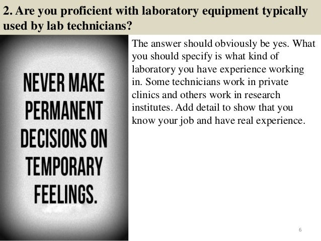 TOP 10 LABORATORY INTERVIEW QUESTIONS WITH ANSWERS