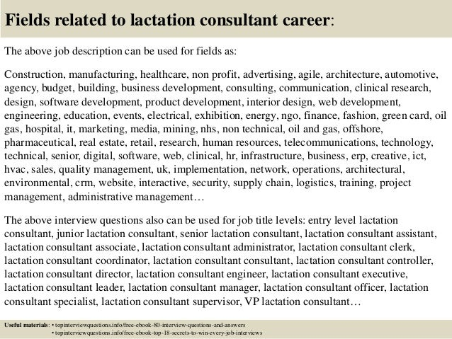 Top 10 lactation consultant interview questions and answers