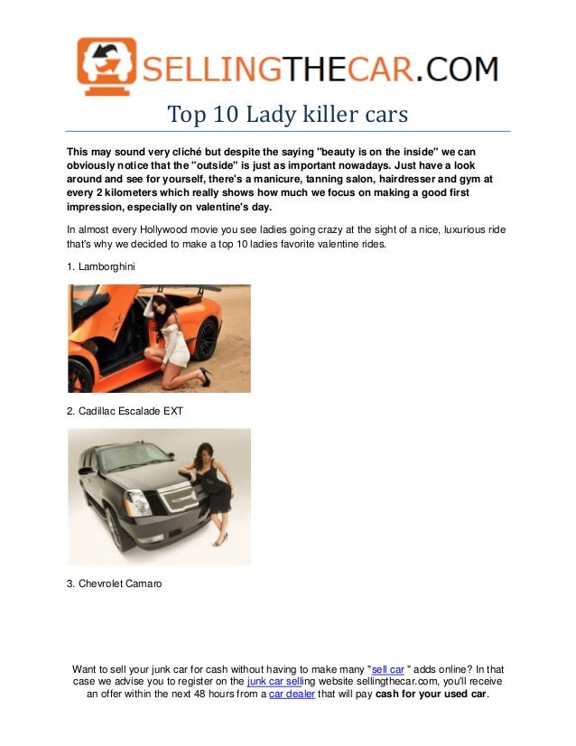 Top 10 lady killer cars