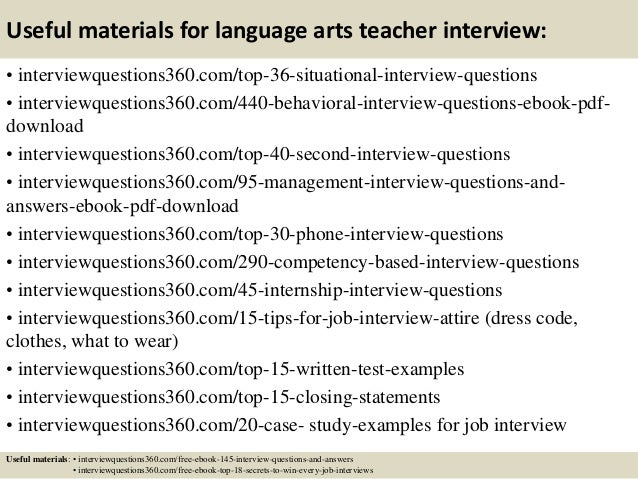 Top 10 language arts teacher interview questions and answers