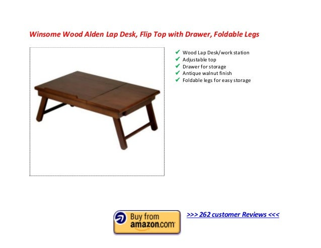 248 Customer Reviews U003cu003cu003c; 4. Winsome Wood Alden Lap Desk ...