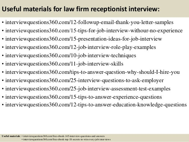5 Law Office Receptionist Resume Ledger Paper Cover Letter Example ...