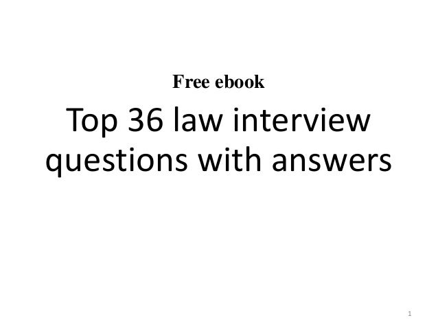 top 36 law interview questions with answers pdf