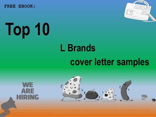 Top 10 L Brands Cover Letter Samples