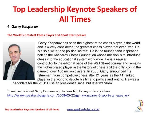 Top 10 leadership keynote speakers of all times