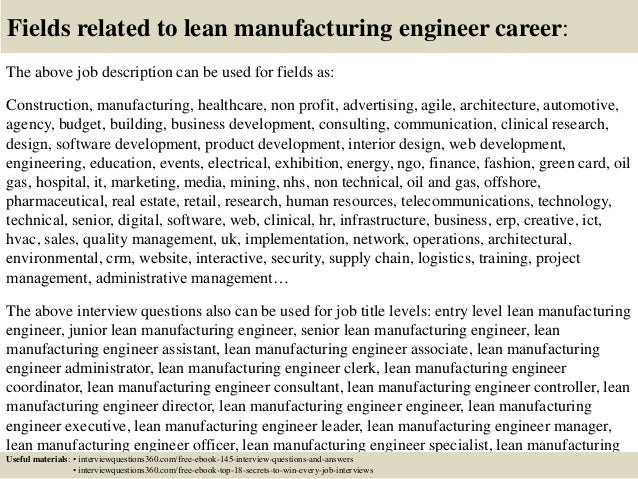 industrial engineering cover letter