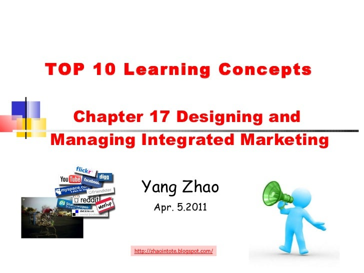 Chapter 17 Designing and  Managing Integrated Marketing Yang Zhao Apr. 5.2011 http://zhaointote.blogspot.com/ TOP 10 Lea...