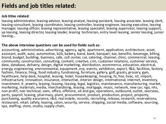 Interview Questions And Answers 57 58