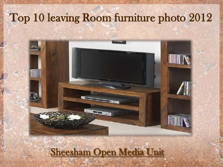 Top 10 leaving Room furniture photo 2012        Sheesham Open Media Unit