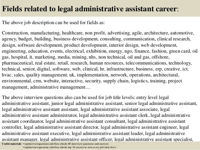 Top 10 legal administrative assistant interview questions and answers