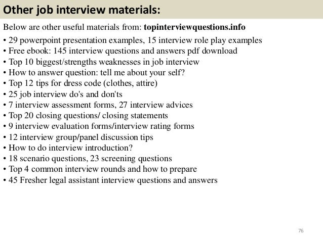 legal job interview questions and answers pdf