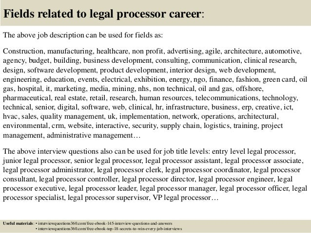 ... 18. Fields Related To Legal ...