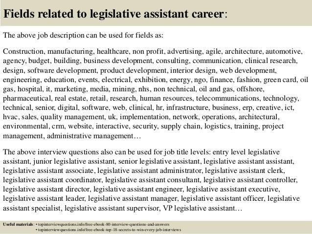 Top 10 legislative assistant interview questions and answers
