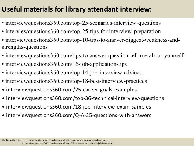 Top 10 library attendant interview questions and answers