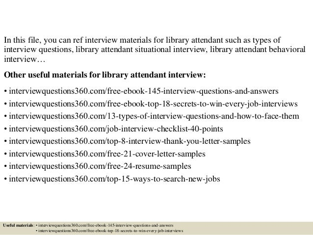 2 in this file you can ref interview materials for library - Librarian Interview Questions For Librarians With Answers
